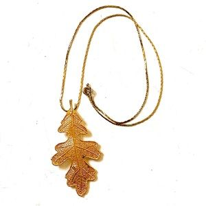 Maple Leaf necklace Gold Leaf Vintage